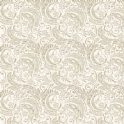 Lewis & Irene Island Girl - 5310 - Traditional Polynesian Scroll, Beige on Cream - A194.1 - Cotton Fabric